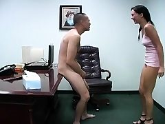Deviant chicks get nasty while busting and spanking balls