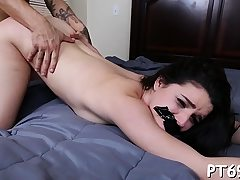 Stunner supplicates her fucking partner to drill her with his monstrous prick