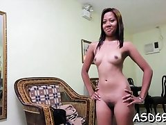 Thai breezy favors a guy with manhood sucking and riding