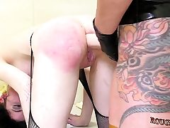 Girl extreme supremacy and school teacher punishes