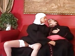 Old priest fuck a youthfull and sexy nun.