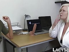 Doctor Lacey Starr examines 18yo with tongue and fucktoys