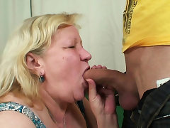 Wifey finds him plowing her old plump mother!